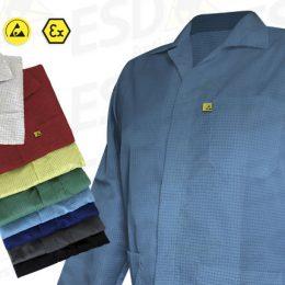 Avental : Jaleco Antiestático ESD Azul Claro