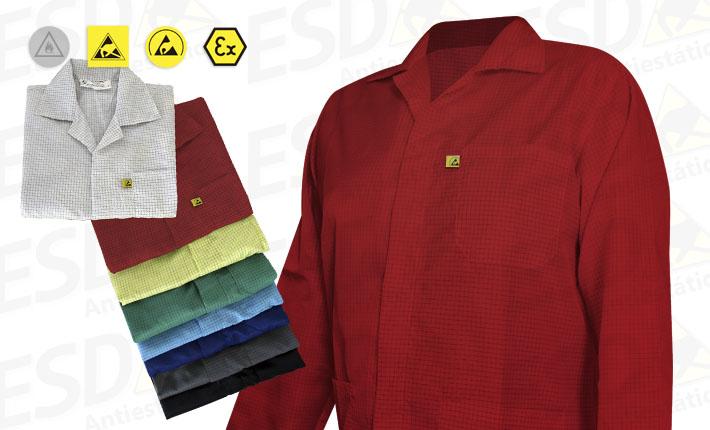 Avental : Jaleco Antiestático ESD Vermelho