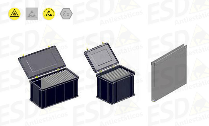 Caixa ESD Condutiva Pocket-Box