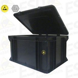 Caixa ESD Industrial Condutiva 62 Litros
