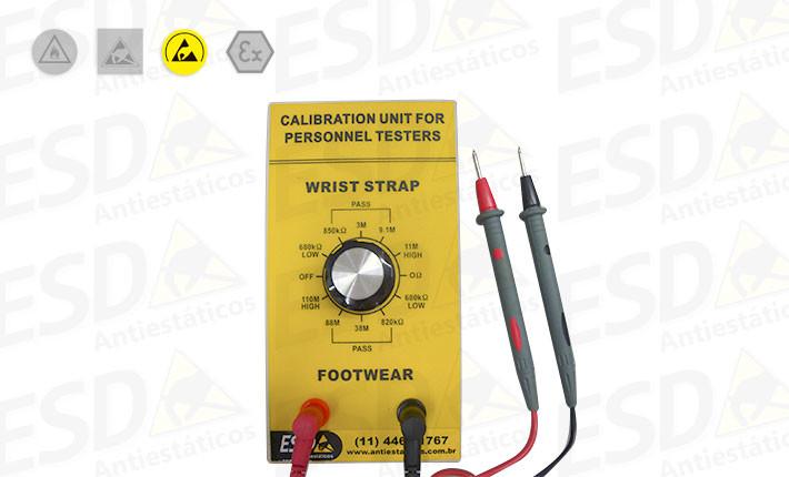 Calibrador ESD para Testador de Calçados, Calcanheiras e Pulseiras