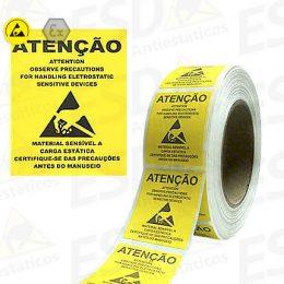 Etiqueta de Advertência ESD em Rolo