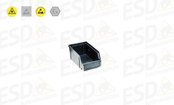 Gaveta Bin ESD Plástico Condutivo nº1