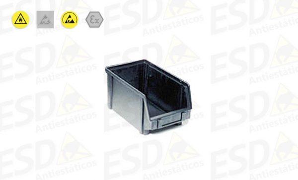 Gaveta Bin ESD Plástico Condutivo nº3