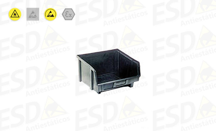 Gaveta Bin ESD Plástico Condutivo nº5