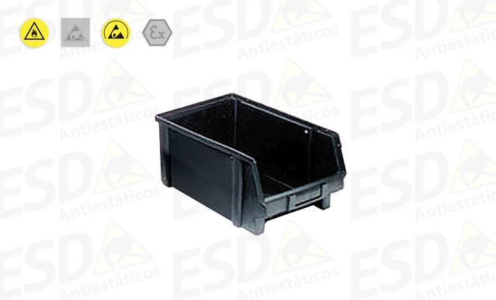 Gaveta Bin ESD Plástico Condutivo nº6
