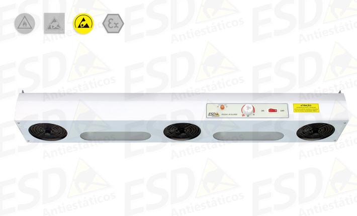 Ionizador de Topo ESD com três ventiladores