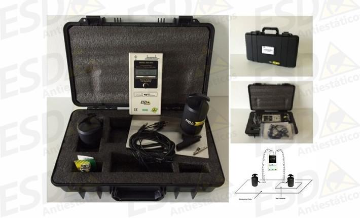 Kit ESD Megômetro Digital de Resistividade Elétrica Superficial