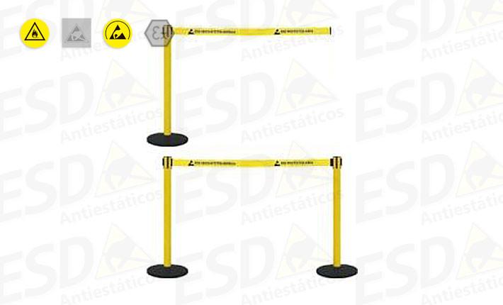 Pedestal ESD com Sistema de Fita Retrátil