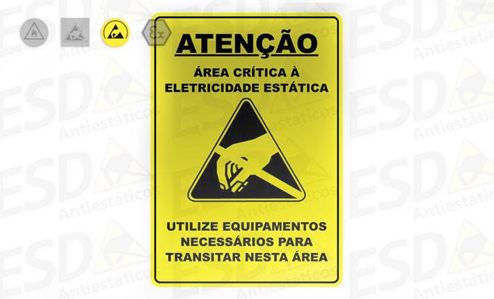 Placa Advertência ESD em Alumínio