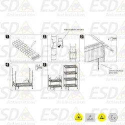 Montagem Prateleira ESD - instruções